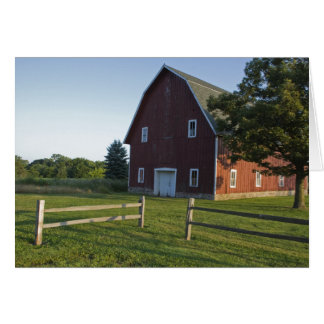 Red Barn with Fence Card