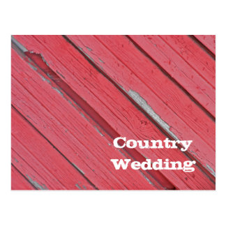 Red Barn Wood Country Wedding Save the Date Postcard