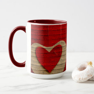 RED BARN WOOD-Personalized Coffee Mug