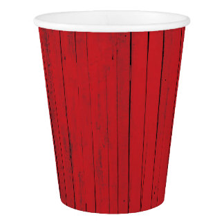 Red Barn Wood Siding Farmhouse Paper Cup