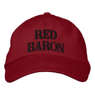 Red Baron Hat Embroidered Baseball Cap