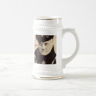 Red Baron Portrait Mug, w RedBaron Gear logo back Beer Stein