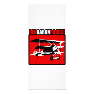 Red Baron Rocks! Rack Card Template