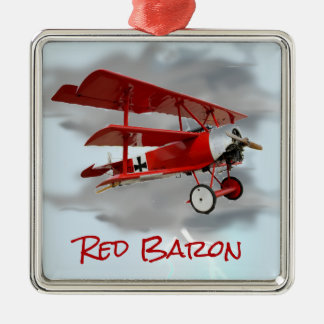 Red Baron's Fokker Triplane Metal Ornament