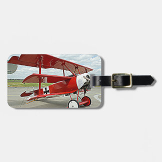 Red Baron's triplane Luggage Tag