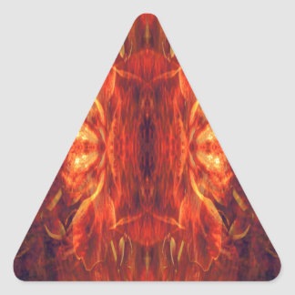 Red Baroque Cool Abstract Retro Triangle Sticker
