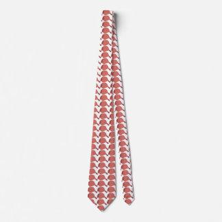 Red baseball cap tie