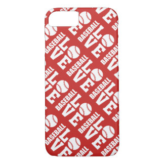 Red Baseball Love Pattern iPhone 8/7 Case