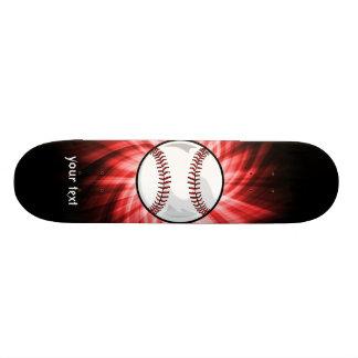 Red Baseball Skate Board Deck