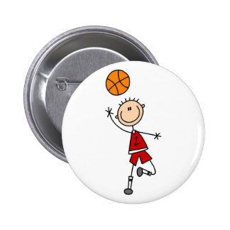 Red Basketball Player Button