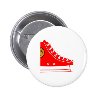 Red Basketball Sneaker Button