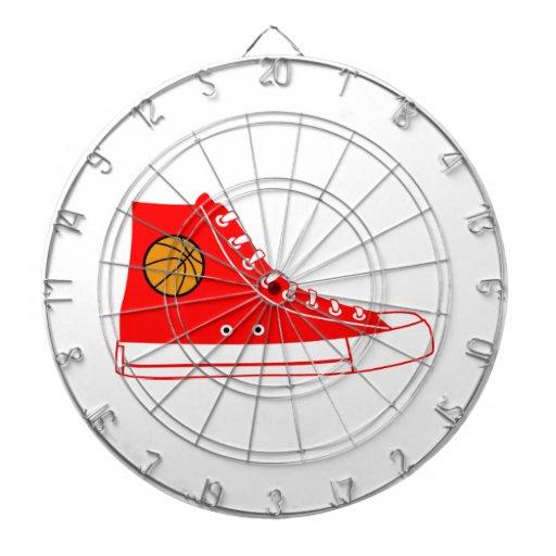 Red Basketball Sneaker Dart Board