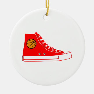 Red Basketball Sneaker Christmas Ornament