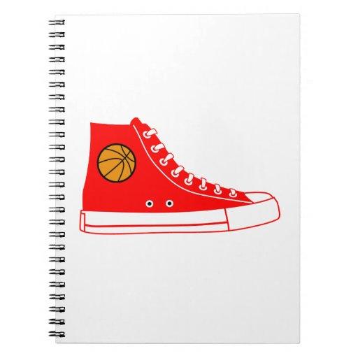 Red Basketball Sneaker Notebooks