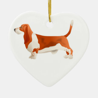 Red basset Christmas ornament