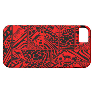 Red Batik style I phone case