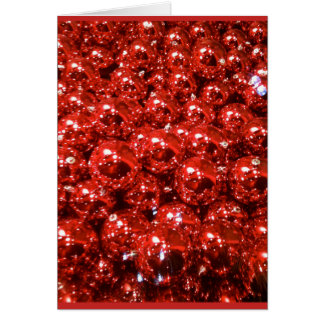 Red Baubles Card