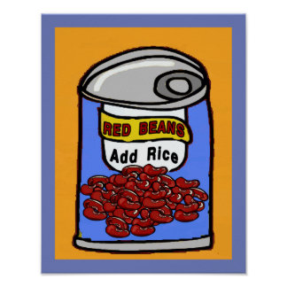 Red Beans Cartoon Poster