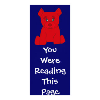 Red Bear Bookmark Template Custom Rack Card