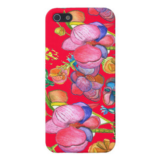 Red Beauty Asian Design IPhone5 Case For The iPhone 5
