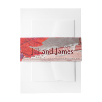 Red Beauty Wedding Invitation Belly Band