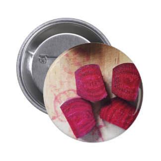 Red Beets 6 Cm Round Badge