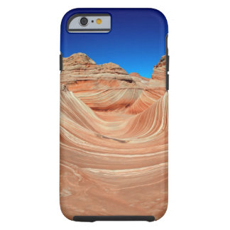 Red, Beige and yellow striping in wind  and Tough iPhone 6 Case