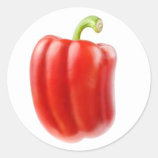 Red bell pepper round sticker