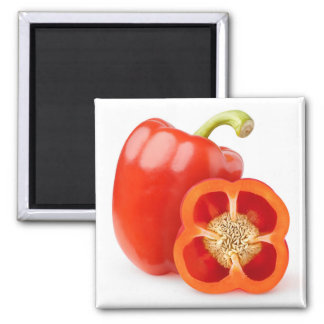 Red bell pepper square magnet