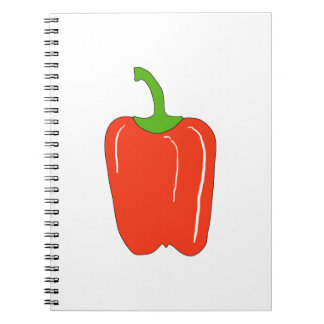 Red Bell Pepper. Whole. Note Book
