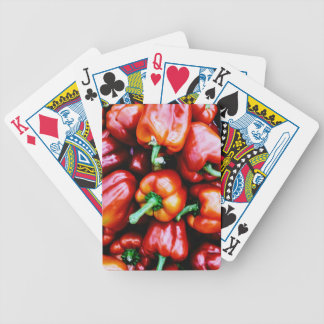 Red Bell Peppers Bicycle Playing Cards