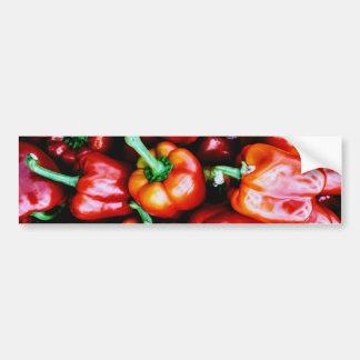 Red Bell Peppers Bumper Sticker
