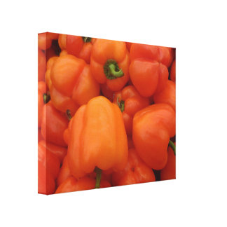 Red Bell Peppers Stretched Canvas Print
