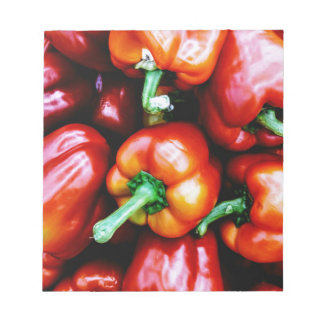 Red Bell Peppers Notepads