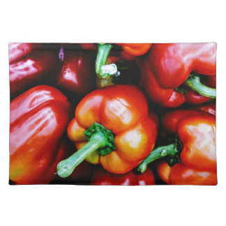 Red Bell Peppers Placemat
