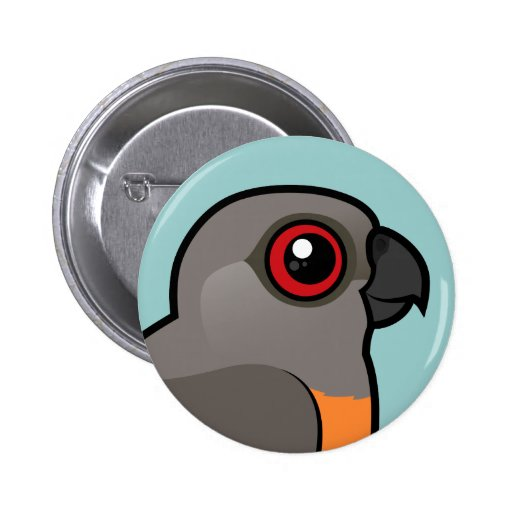 Red-bellied Parrot Button