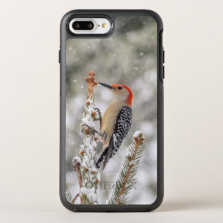 Red-bellied Woodpecker in the snow OtterBox Symmetry iPhone 8 Plus/7 Plus Case