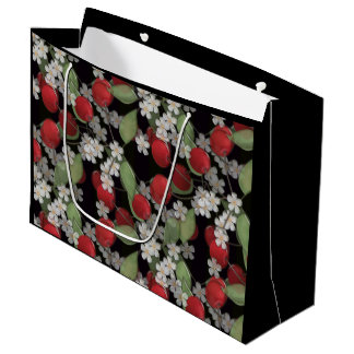 Red berries , cherry large gift bag