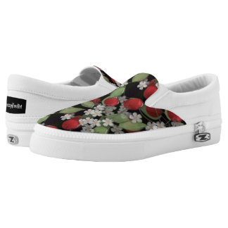 Red berries , cherry Slip-On shoes