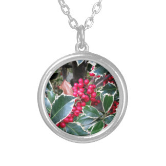 Red berries from a holly tree pendants
