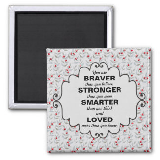 Red Berries Gray Leaves Words of Encouragement Magnet