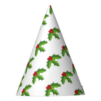 Red Berry Holly Party Hat