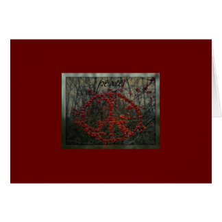Red Berry Peace Greeting Cards