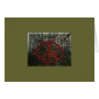Red Berry Peace Greeting Card