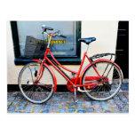 Red Bicycle, Copenhagen, Denmark Postcard