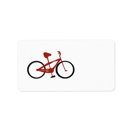 Red Bicycle Label