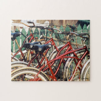 """Red Bicycles' Jigsaw Puzzle"