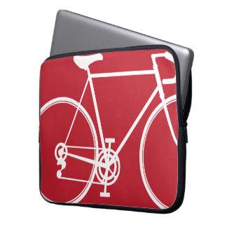 Red bike design Laptop Sleeve