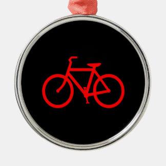 Red Bike Metal Ornament