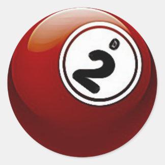 Red BINGO Ball Stickers